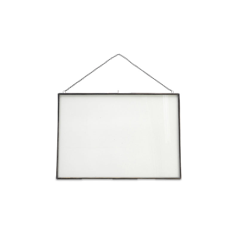 Gigantic Rectangular Zinc Frame with Chain