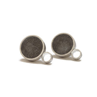 "Large Circle ""Geometry"" Concrete & Silver Studs"
