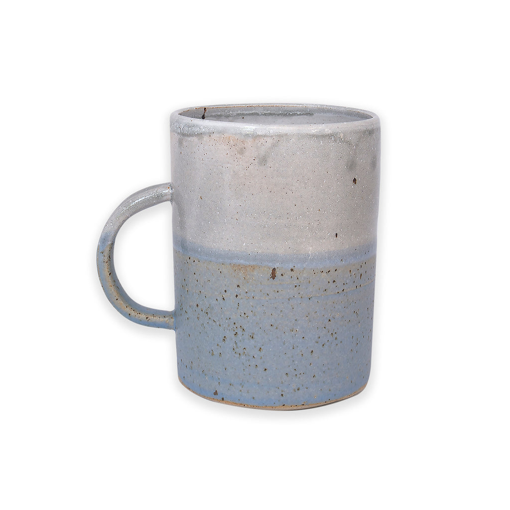 Tall Sea Dawn Blue and White Dipped Mug