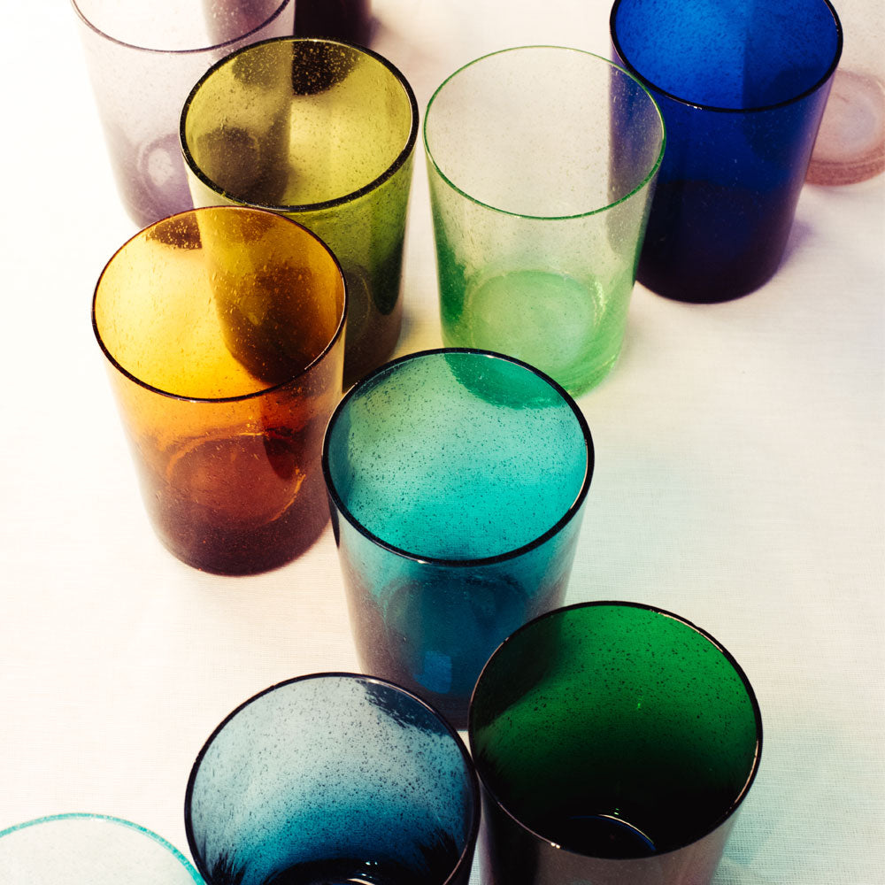 Cornflower Blue Handmade Glass Tumbler