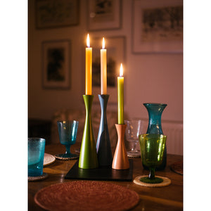 Tall Gunmetal Grey Candleholder