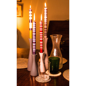 Tall Olive Green Candleholder