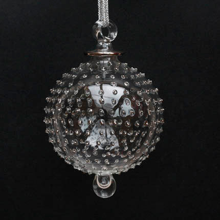 Silver Hand-Blown Jubilee Bauble