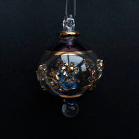 Small Blue Victorian Gem Bauble