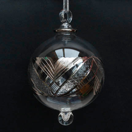 Silver Art Deco Bauble