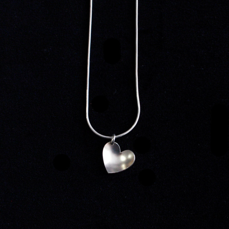Silver Heart Necklace Medium