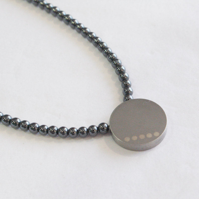 Hematite & Stainless Steel Necklace