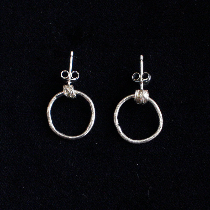 Silver Wire Hoop Earrings