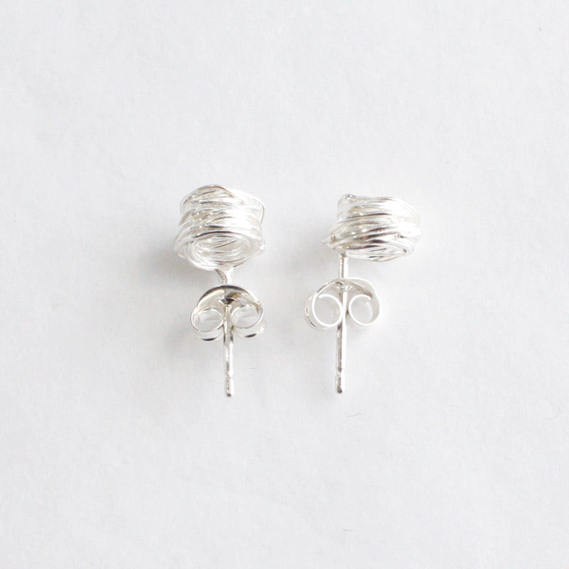 Small Silver Wrap Studs