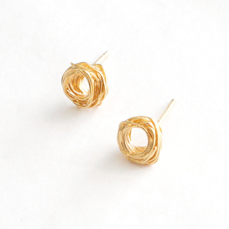 Small Gold Plated Wire Wrap Studs