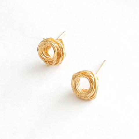 Gold Plated Wrap Studs, Large