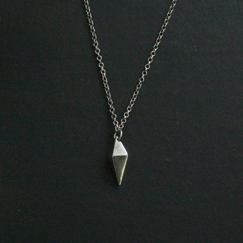 Tiny Kite Pendant Silver