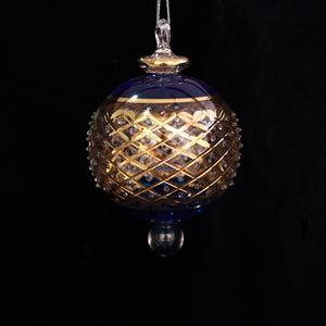 Blue & Gold Byzantian Bauble