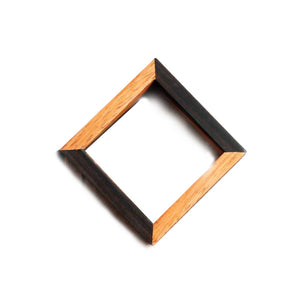Pod Mahogany & African Blackwood Square Bangle