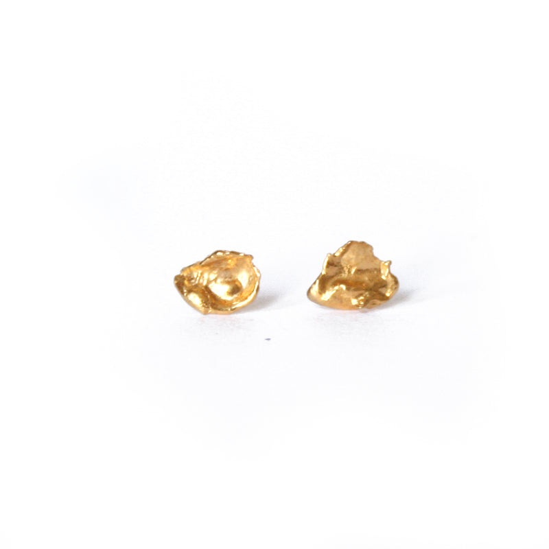 Gold Plated Cast Studs, Medium