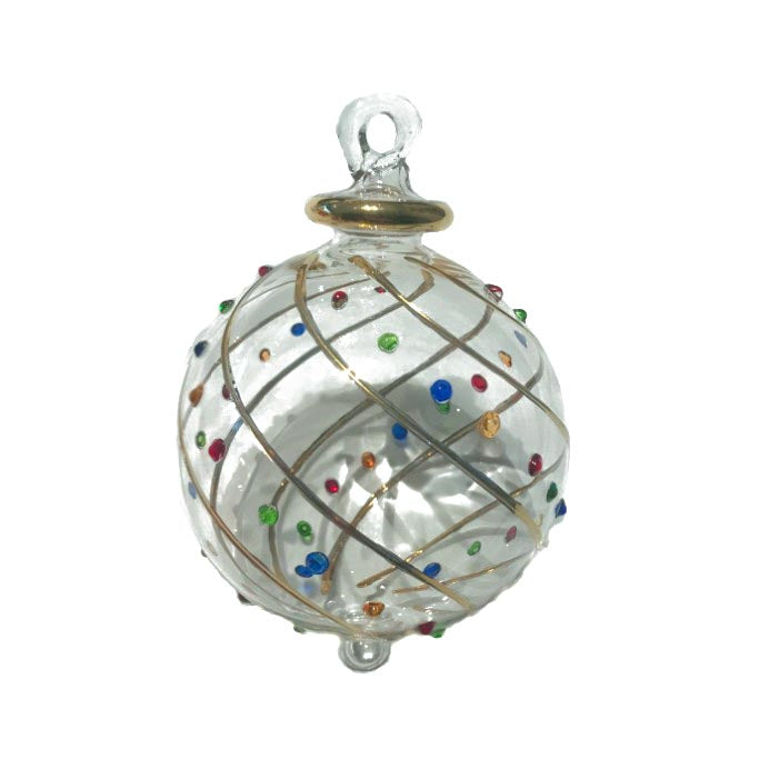 Mistral Bauble in Gold & Multi Colour