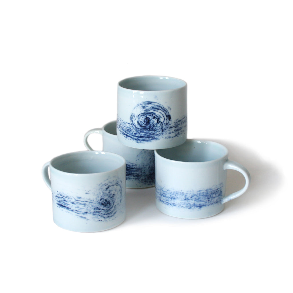 Blue Wave Expresso Cups