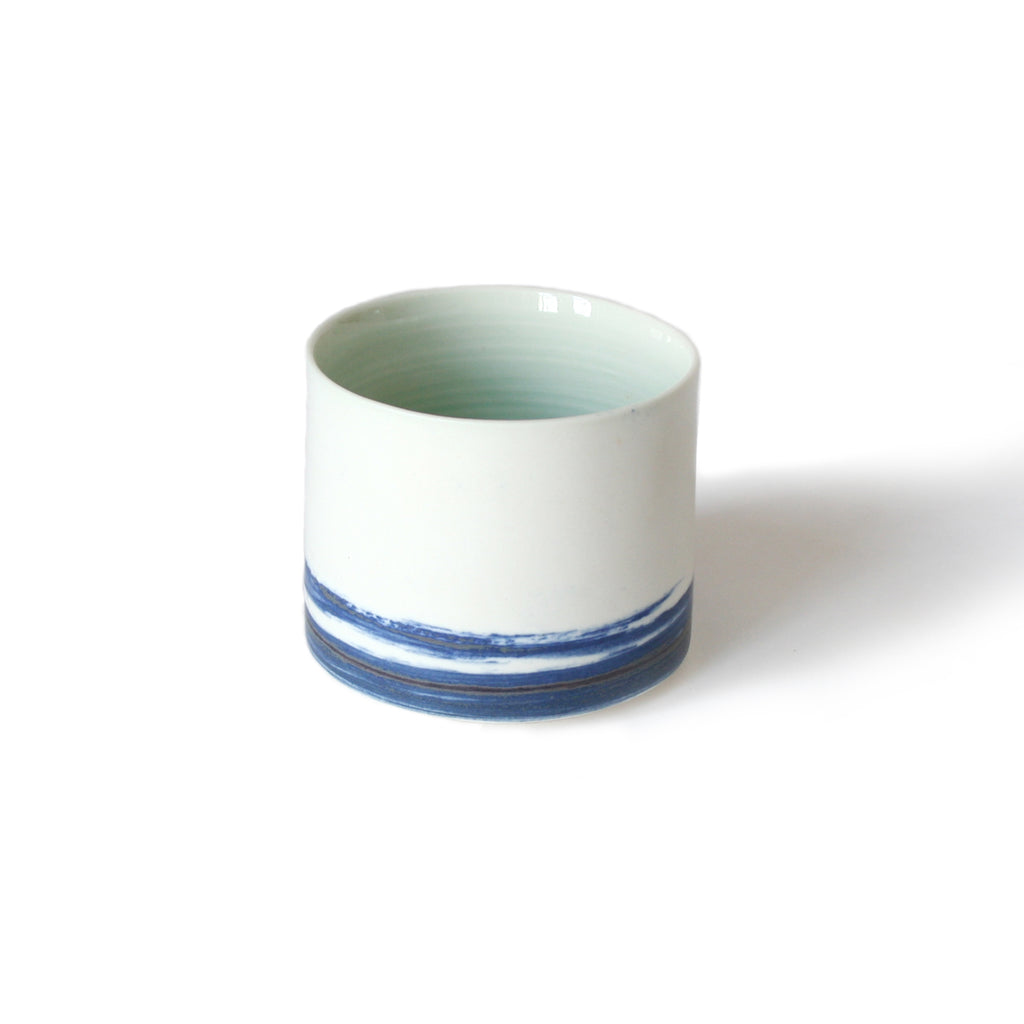 Blue & Pale Green Ceramic Cup