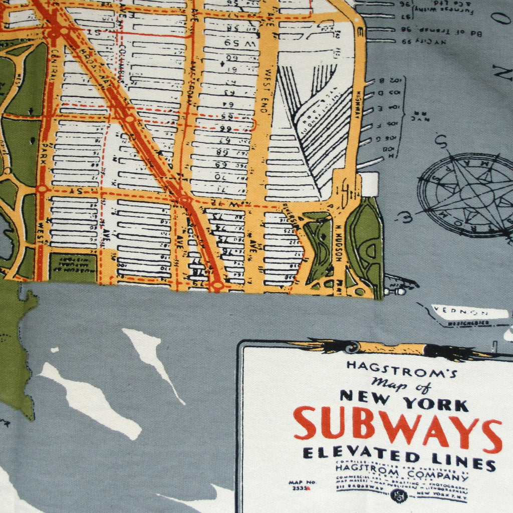 New York Map Print Bag