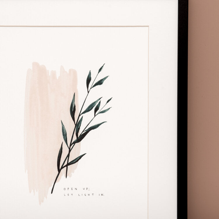 'Open Up; Let Light In' Watercolour Art Print
