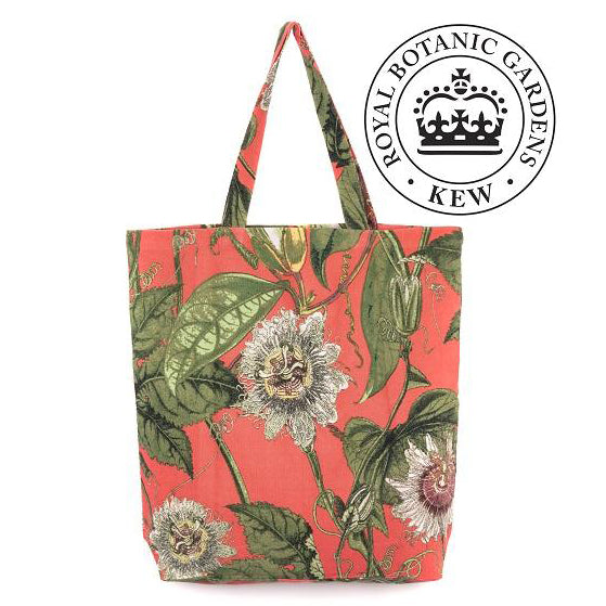 KEW Passion Flower Coral Bag