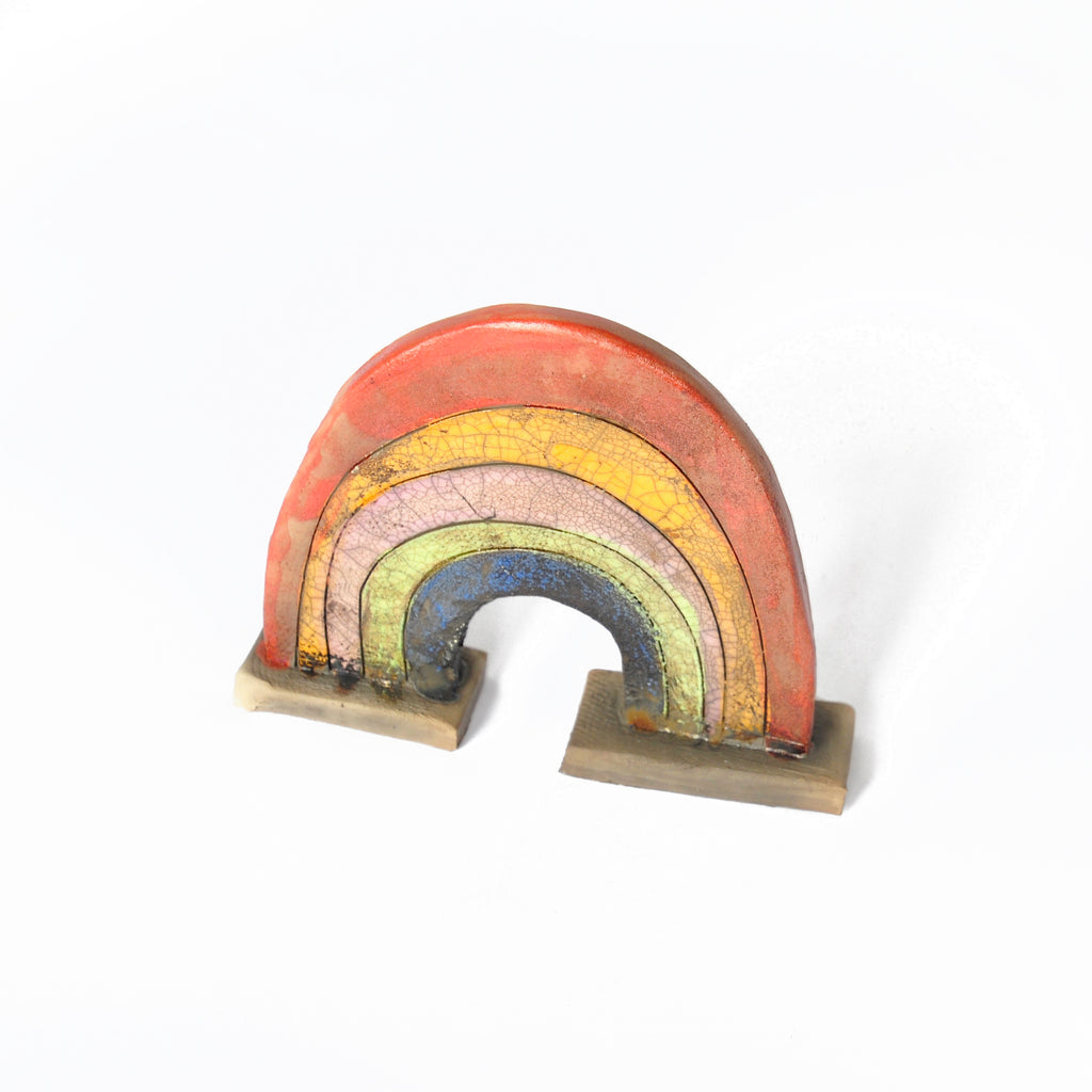 Raku Fired Ceramic Rainbow