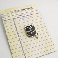 reading Cat Enamel Pin