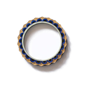 Blue and Gold Geometric Bangle