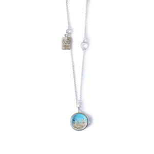 """Oh I Do Like To Be Beside The Seaside"" Resin and Silver Necklace"