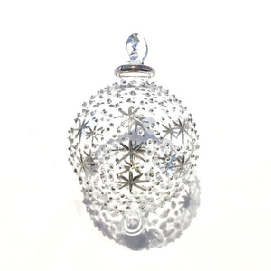 Silver Heaven Hand-Blown Glass Bauble