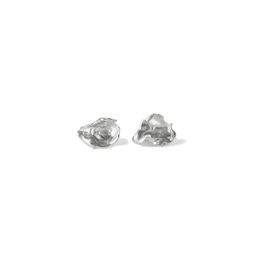 Silver Cast Studs, Large