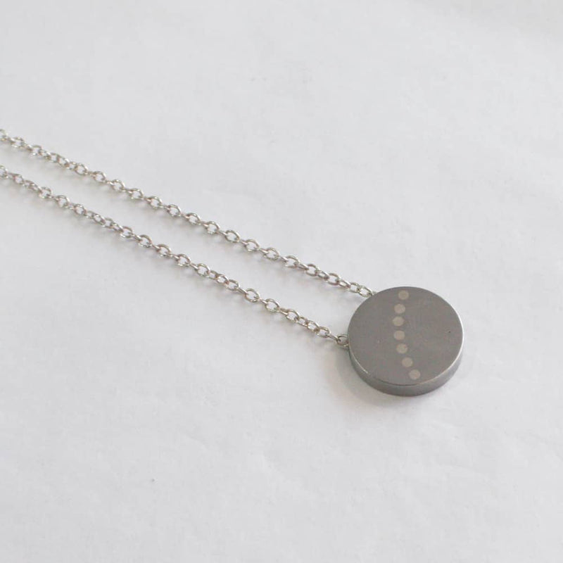 Silver Dot Arc Pendant
