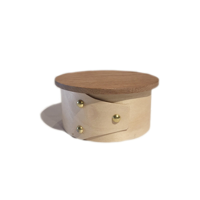 Small Round Wooden Shaker Style Box