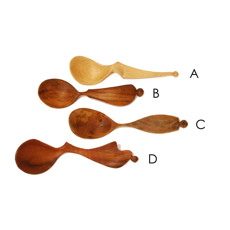 Wooden Serving & Eating Spoons