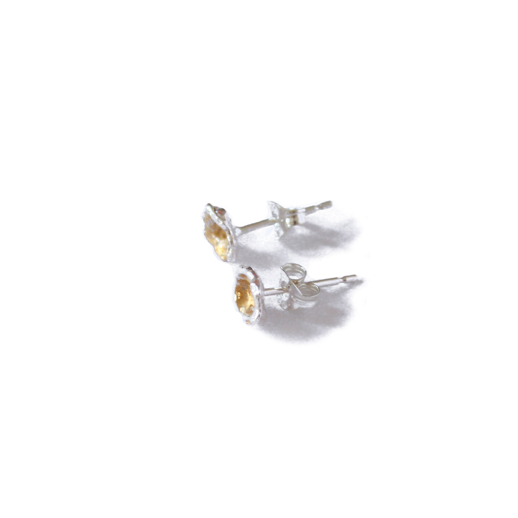 Silver & Gold Leaf Cast Studs, Small