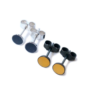 Small Round Coloured Resin Studs