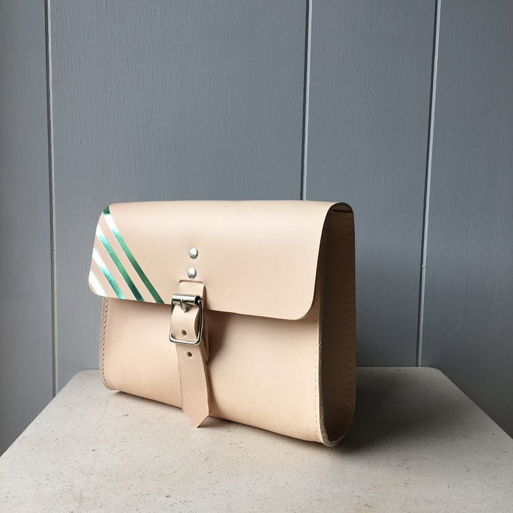 Belt Bag with Pink Stripe