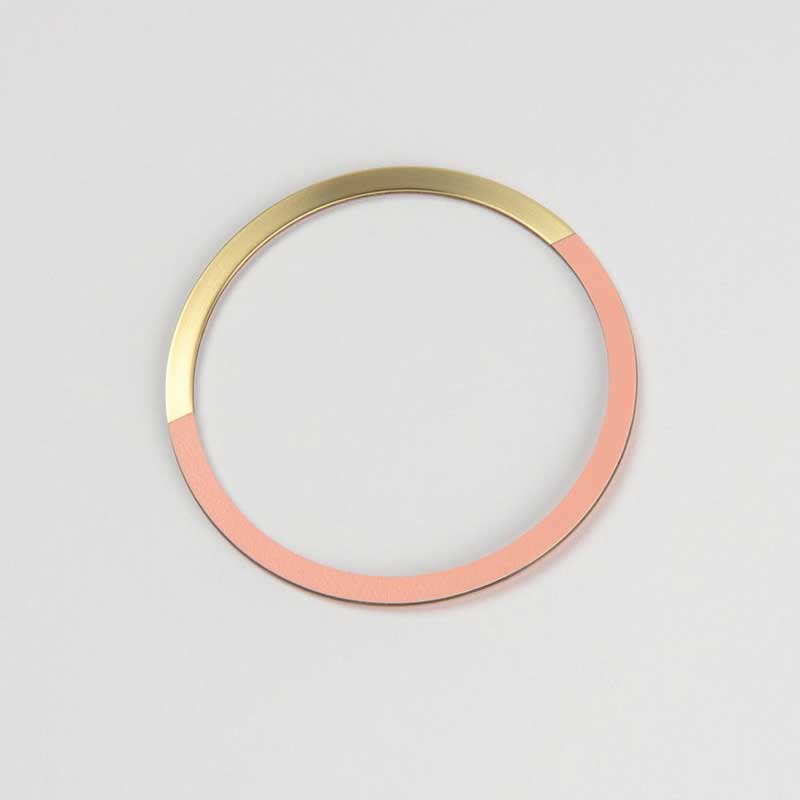 Form Circle Bangle - Brass & Blush