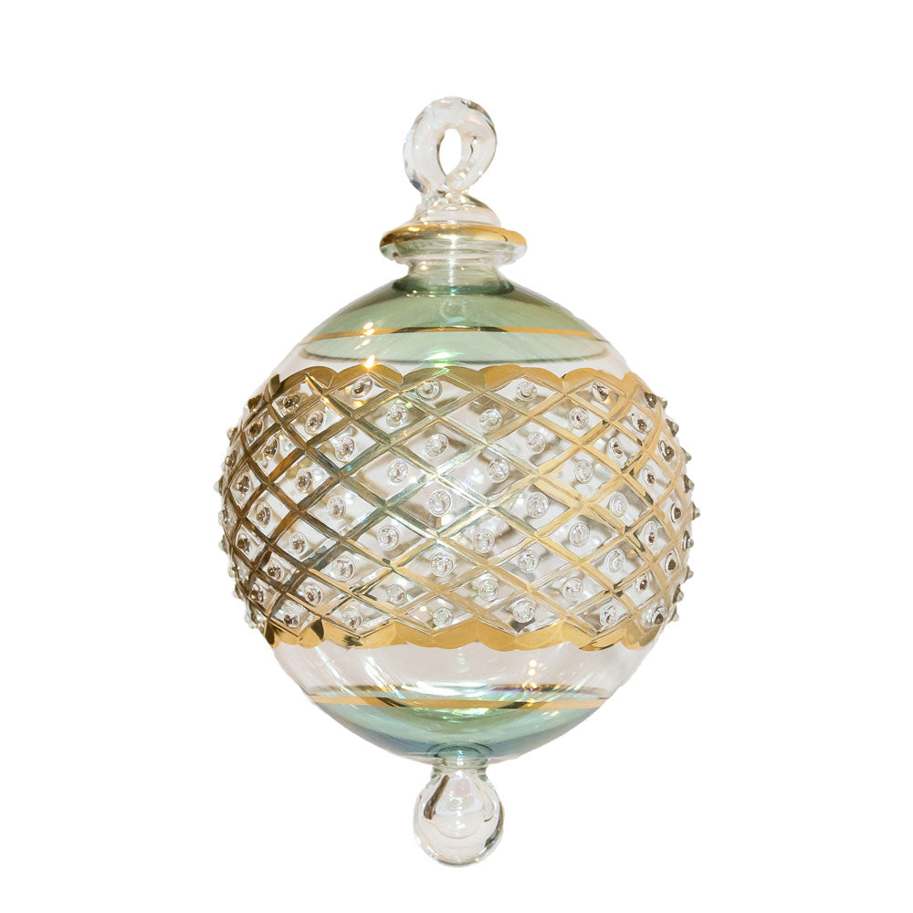 Green & Gold Byzantian Bauble