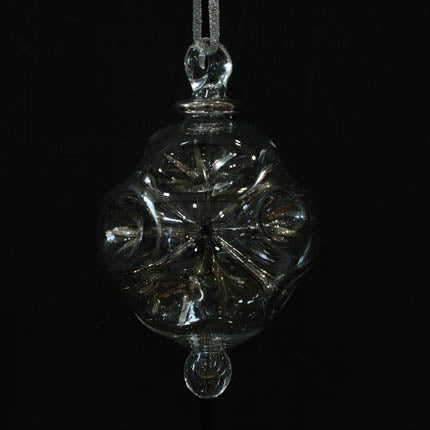 Silver Fiesta Hand-Blown Bauble