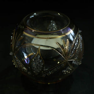 Gold 'Antique Swag' hand-blown glass votive