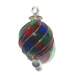 Small Multi Coloured Tartan Bauble