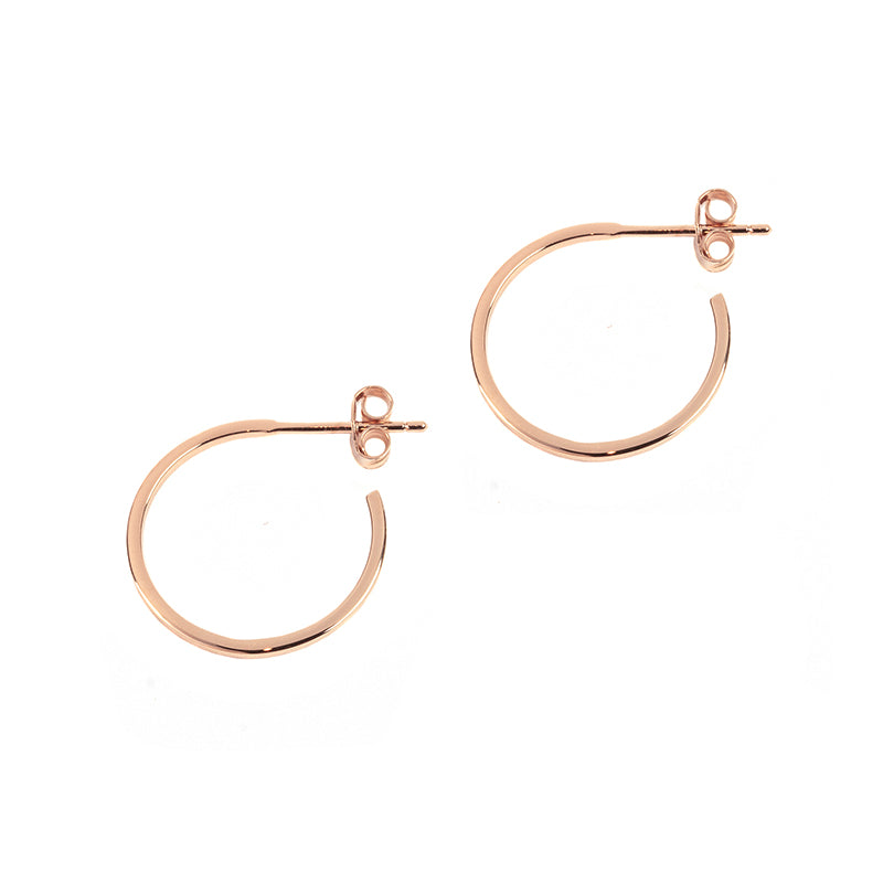 Thin Rose Gold Wire Hoops