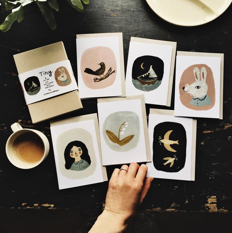 Whimsical Illustration Card Set
