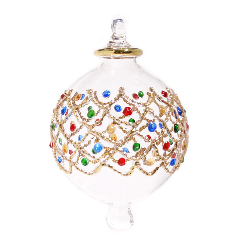 Treasure Bauble in Gold & Multi Colour