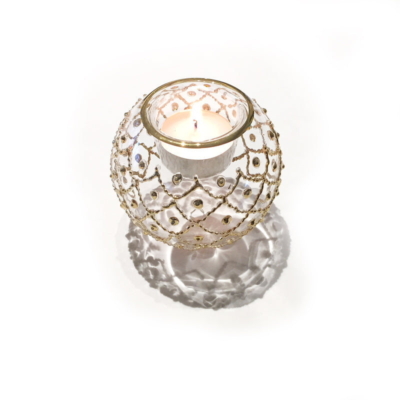 Gold Treasure Hand-Blown Votive