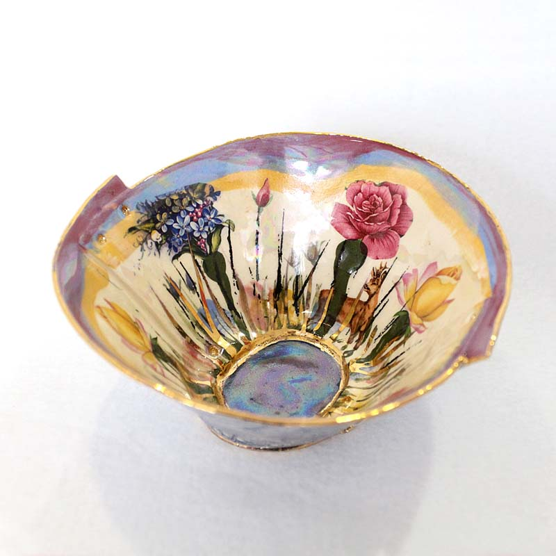 Secret Garden Pink Bowl - Medium