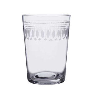 Etched Crystal Glass Tumbler