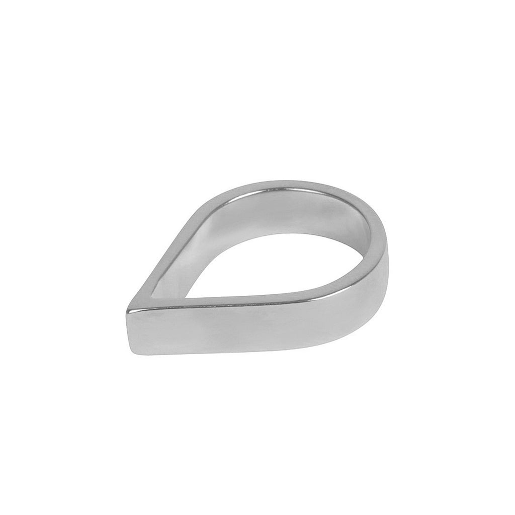 Wide Point Silver Ring