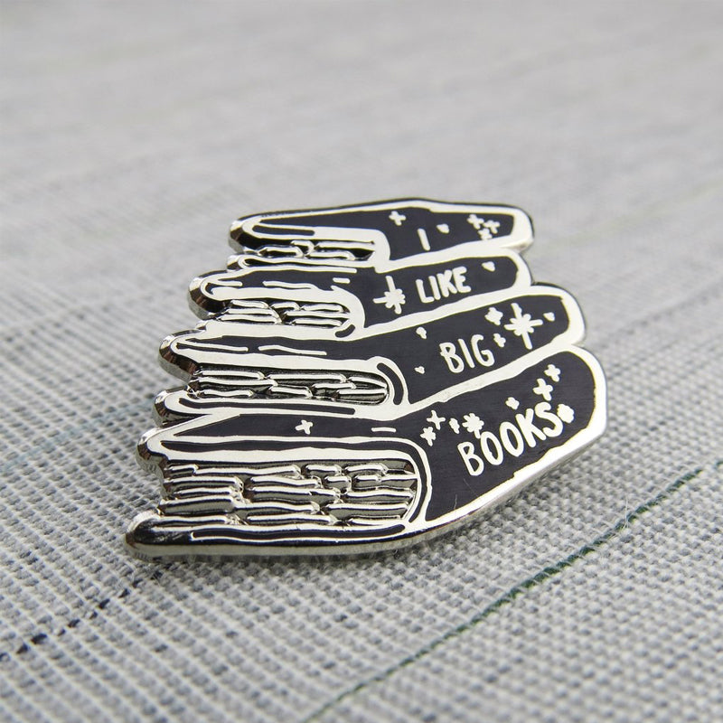 'I Like Big Books' Enamel Pin